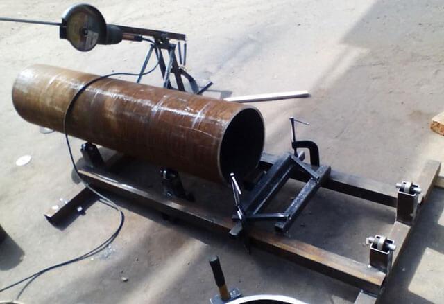 Как ровно отрезать круглую трубу большого диаметра
